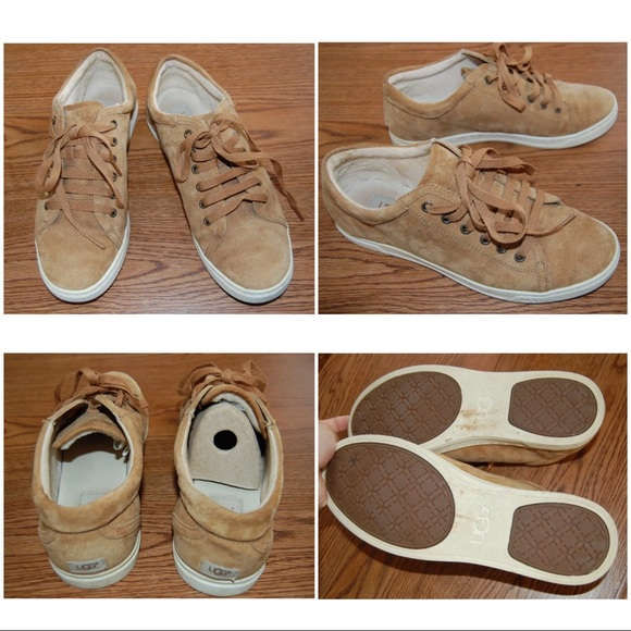 b5f58d102e8 UGG Tomi 8.5 Suede Sneakers in Chestnut